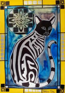 Silver Tabby with Mandala in Cats of Karavella