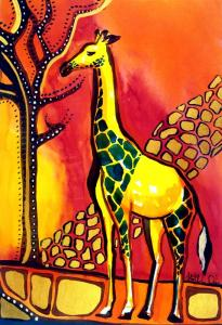 Karavella Atelier Blog featuring Giraffe with Fire