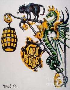 Featured 2 times Caru cu Bere - Antique Shop Sign by Dora Hathazi Mendes