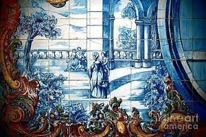 Featured Portuguese Azulejos 01 photograph by Dora Hathazi Mendes