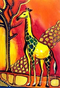Featured 3times - Giraffe with Fire by Dora Hathazi Mendes
