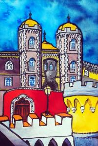 Featured 2 times - Pena Palace in Sintra Portugal by Dora Hathazi Mendes