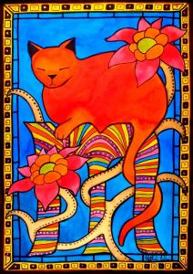 Featured 2times Sleeping Beauty - Cat Art by Dora Hathazi Mendes