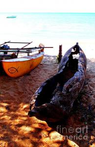 Featured Old Boat in Malawi photograph by Dora Hathazi Mendes