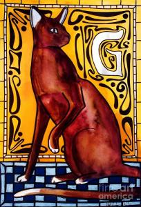 Featured Chocolate Delight Havana Brown Cat by Dora Hathazi Mendes