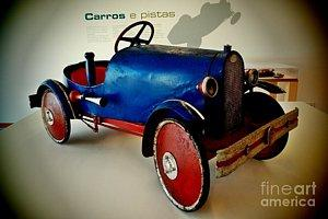 Featured 2 times Old Car Toy 02 photograph by Dora Hathazi Mendes