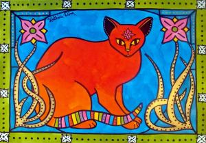 Cats of Karavella Blog Featuring Indian Cat With Lilies