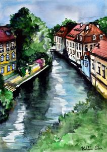 Karavella Atelier Featuring Little Venice in Prague - Certovka Canal