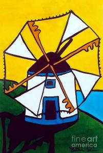 Featured 2 times Portuguese Singing Windmill by Dora Hathazi Mendes