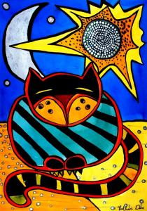 Art by Cats of Karavella Featuring Sun and Moon