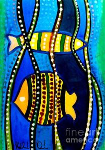 Featured Fishes and Seaweed - Art by Dora Hathazi Mendes