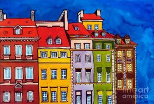 Featured 2times - Houses in the Old Town of Warsaw by Dora Hathazi Mendes