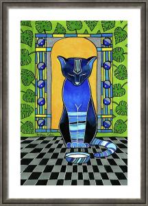Cats of Karavella Featuring He Is Back - Blue Cat Art