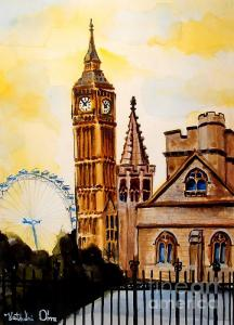 Featured 5 times Big Ben and London Eye by Dora Hathazi Mendes