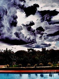 Featured African Storm Arrives photograph by Dora Hathazi Mendes